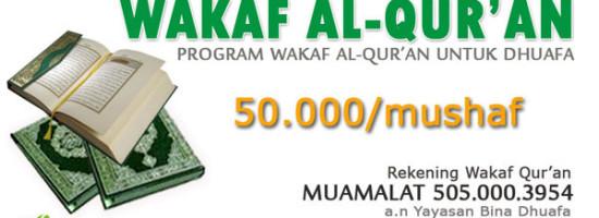 Program Wakaf Al-Qur'an Untuk Anak Dhuafa
